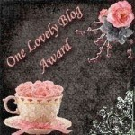 One Lovely Blog Award - presented by Katie Gates